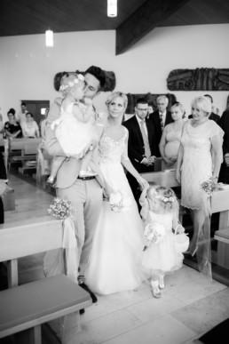Einzug des Brautpaars Hochzeit in Franken