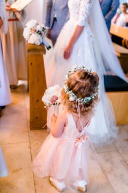 Blumenmädchen Hochzeit in Franken