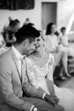 Freude bei der Trauung Hochzeit