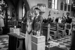 Ja Wort Trauung Brautpaar in Kirche Hochzeit in Franken Julia Reif Fotografie