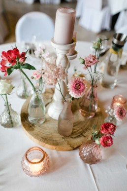 Hochzeitsdekoration Vintage Zehentspeicher Gerbera
