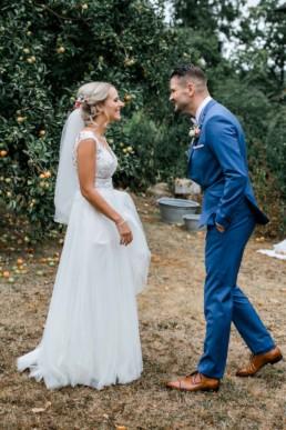 First Look das erste aufeinander treffen am Hochzeitstag