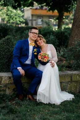 Brautpaarshooting bei der Hochzeit in den Weinbergen