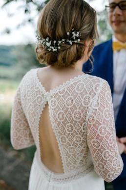 Vintage Brautkleid Rembo Styling Rückenausschnit