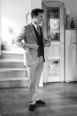 Getting Ready beim Bräutigam