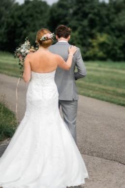 First look das erste Aufeinandertreffen am Hochzeitstag