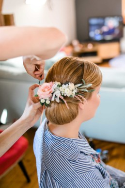 Getting Ready der Braut die letzten Züge