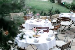 Kaffeetrinken Tischdeko Hochzeit