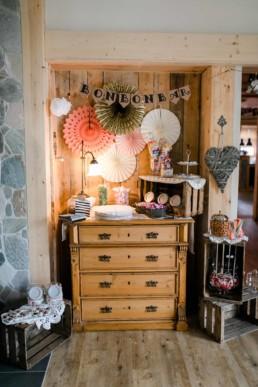 Candy Bar für die Vintagehochzeit in Vestenbergsgreuth
