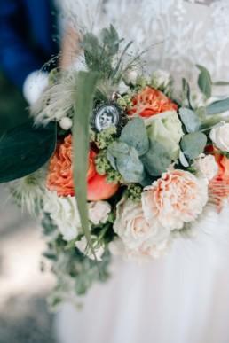Brautstrauß mit Erinnerungsbild