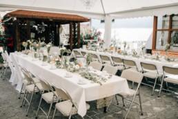 Hochzeitsdeko Tafel Blumen