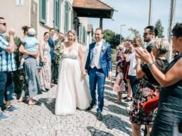 Strahlende Braut Hochzeit
