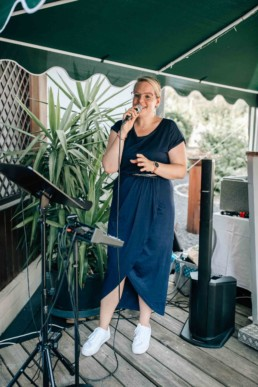 Sängerin Hochzeit Empfang