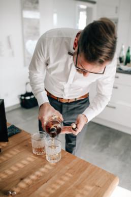 Rum Hochzeit Bräutigam