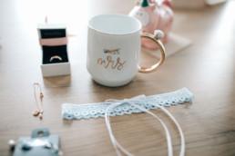 Tasse Mrs Hochzeit Strumpfband Schmuck