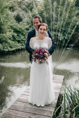 See Wasser Brautpaar