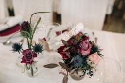 Tischdeko Blumen Hochzeit