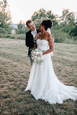 Sonnenuntergang Brautpaar