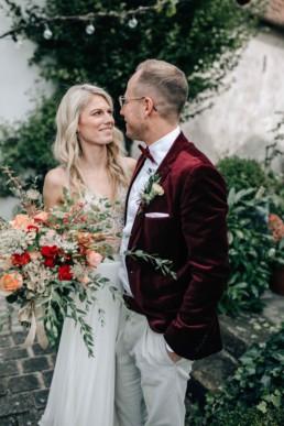 Glückliche Braut Lichterkette