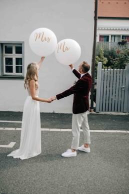 Luftballon Brautpaar