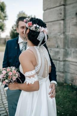 Brautkleid Rückenansicht
