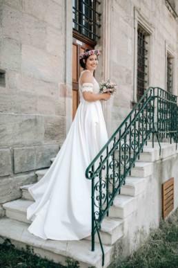 Strahlende Braut
