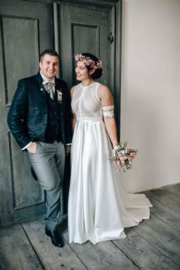 Glückliches Brautpaar Schloß Hemhofen