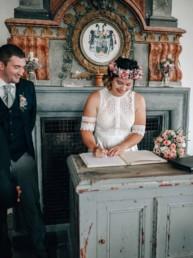 Unterschrift Braut Schloß Hemhofen