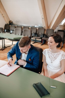 Hochzeit zu zweit in Bamberg von Naomi & Steffen