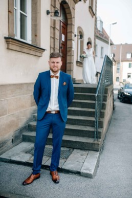 First Look in Bamberg, fotografiert von Hochzeitsfotografin Julia Reif