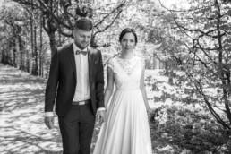 Naomi und Steffen bei ihrer standesamtlichen Hochzeit in Bamberg