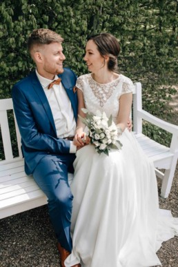 Fotograf Julia aus Bamberg unterwegs im Schloß Seehof bei Hochzeit von Naomi und Steffen