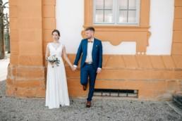 Hochzeit Schoß Seehof Paar bei standesamtlicher Hochzeit