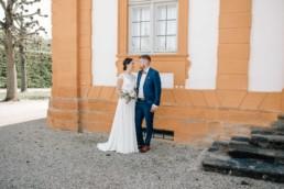 Brautpaar bei ihrer Hochzeit in Bamberg Schloß Seehof